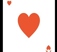 ACE, Ace of hearts, Cards, Card Game, Player, Gambler, Romance by TOM HILL - Designer