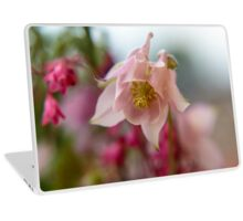 Blossom of a Aquilegia in Pink Laptop Skin