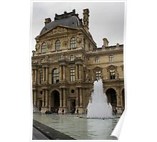 Of Pale Pastels and Palaces - the Louvre Courtyard in Paris Poster