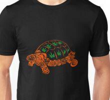 Turtle with Marijuana Leaves Unisex T-Shirt