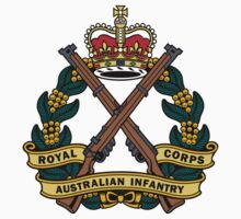 Royal Australian Infantry Corps Color Badge Kids Clothes