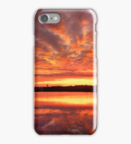 Red Burning Sky iPhone Case/Skin