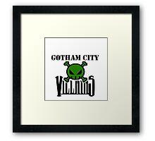 Gotham City Villians Framed Print