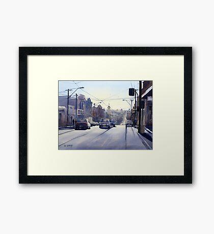 Early Morning Bridge Street, Melbourne Framed Print