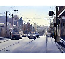 Early Morning Bridge Street, Melbourne Photographic Print