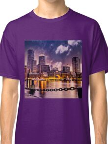 Skyline of Boston Harbor  Classic T-Shirt