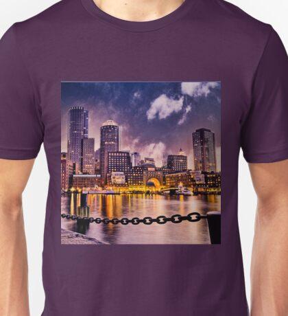 Skyline of Boston Harbor  Unisex T-Shirt