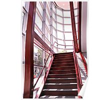 Red Staircase Poster