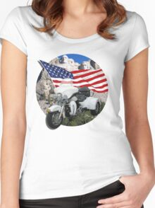 Patriotic Trike Women's Fitted Scoop T-Shirt