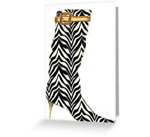 Zebra boots Greeting Card
