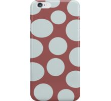 Marsala and Gray Dots iPhone Case/Skin