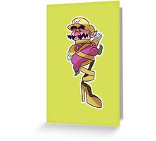 Fancy Shoe Wario Greeting Card