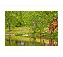 Lake above Crawfish Dam Art Print