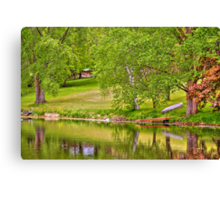 Lake above Crawfish Dam Canvas Print