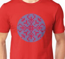 Squares red and blue Unisex T-Shirt