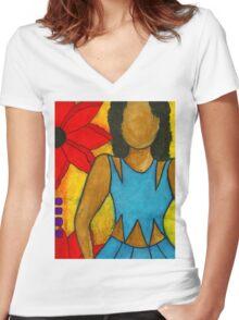 A Summer Love Jones Women's Fitted V-Neck T-Shirt