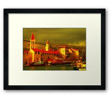 Adriatic Harbor Framed Print