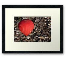 Balloon over Luxor, Egypt Framed Print