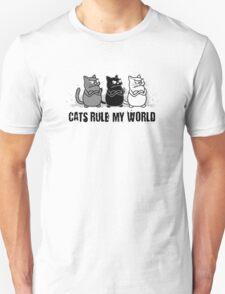 Cats Rule My World Unisex T-Shirt