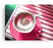 Coffee in Pink. Canvas Print