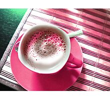 Coffee in Pink. Photographic Print