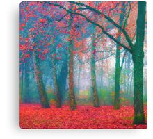 Fallen Red Canvas Print