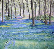 Purbeck Bluebells by Annie Lovelass