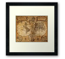 World Map 1736 Framed Print