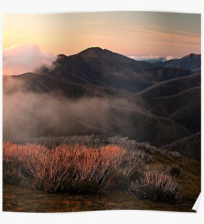 Feathertop hues - Victorian Alps Poster