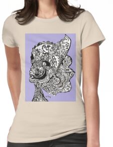 Abstract Sketch  Womens Fitted T-Shirt