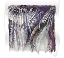 Purple Feathers - detail of a cormorants wing Poster