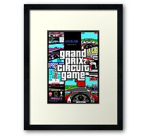 Grand Prix Circuit Game - Formula 1 PC Game 88' Framed Print