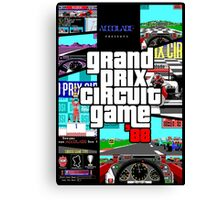 Grand Prix Circuit Game - Formula 1 PC Game 88' Canvas Print