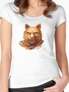 Altered Beast Face Women's Fitted Scoop T-Shirt