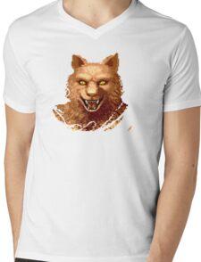 Altered Beast Face Mens V-Neck T-Shirt