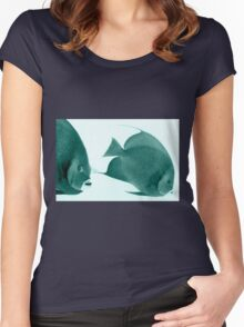 Grey Angelfish - Grand Cayman Women's Fitted Scoop T-Shirt