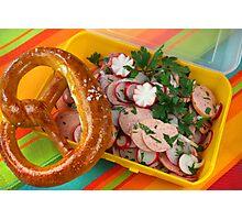 Bavarian Summertime Snacks Photographic Print