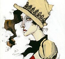 Woman in Hat by Cordell Cordaro