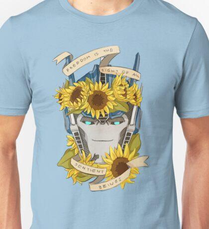 Optimus Prime  - Sunflowers Unisex T-Shirt