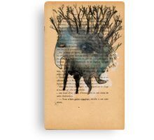 Tree Head Monoprint Monster Canvas Print