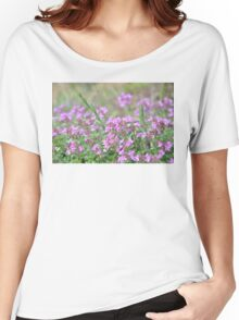 Pink Little Flowers Women's Relaxed Fit T-Shirt