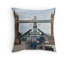 HMS Belfast - Tower Bridge - London Throw Pillow