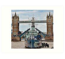 HMS Belfast - Tower Bridge - London Art Print