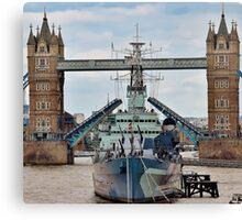 HMS Belfast - Tower Bridge - London Canvas Print