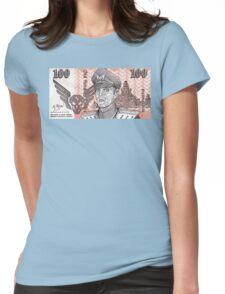 General M Bison Street Fighter the Movie Dollar Womens Fitted T-Shirt