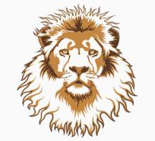 Lion Head (Transparent) One Piece - Short Sleeve
