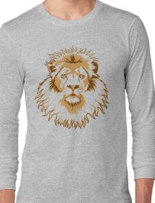 Lion Head (Transparent) Long Sleeve T-Shirt