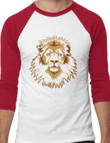 Lion Head (Transparent) Men's Baseball ¾ T-Shirt