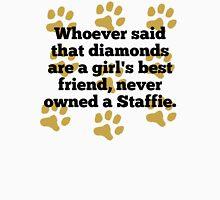 Staffies Are A Girl's Best Friend T-Shirt