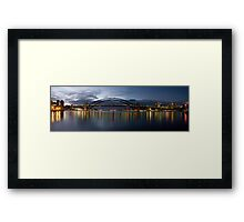 Night Reflections - (30 Exposure HDR Pano) -The HDR Experience Framed Print